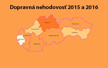 Dopravná nehodovosť 2015 a 2016