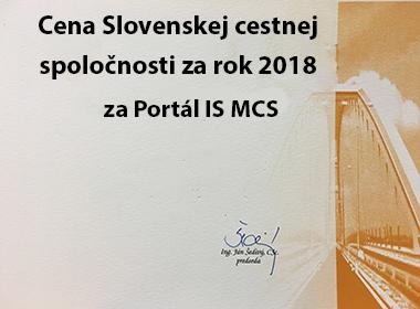 Cena SCS za rok 2018